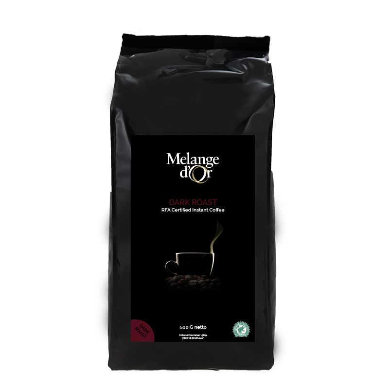Melange d'Or Dark Roast Instant Koffie 500 gram – Rainforest Alliance