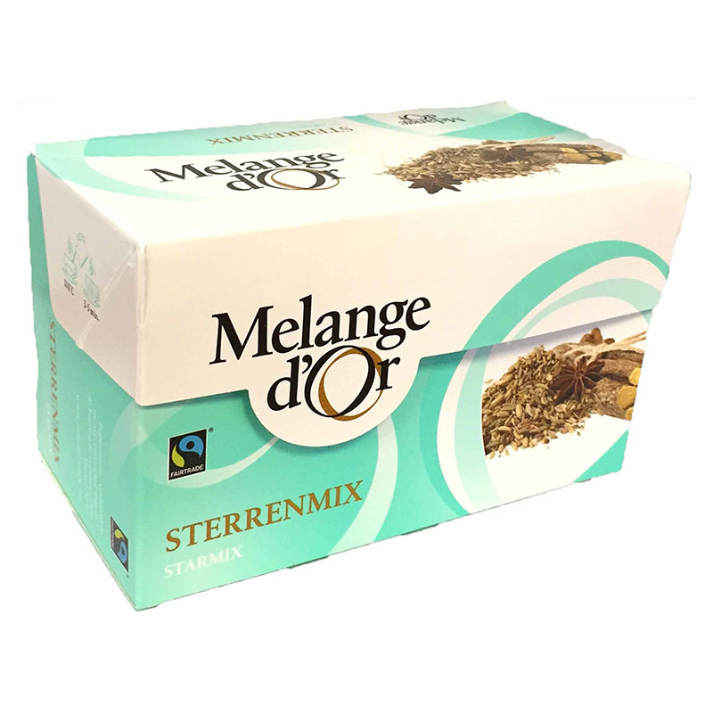 Melange d'Or Sterrenmix Thee Envelopjes 2 gram – Fair Trade