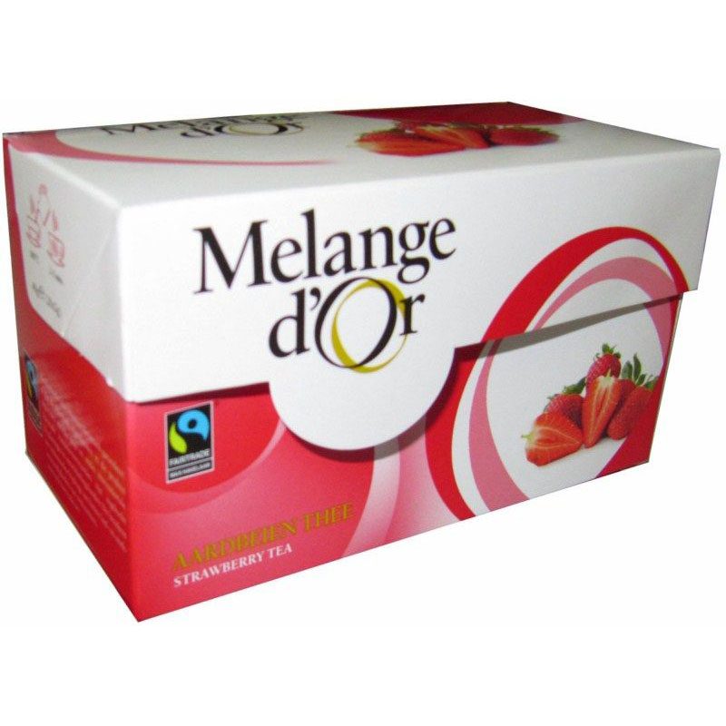 Melange d'Or Aardbeien Thee Envelopjes 2 gram – Fair Trade