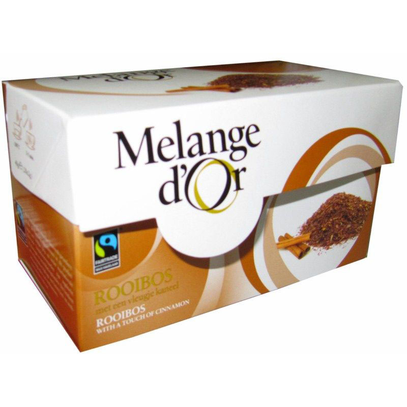 Melange d'Or Rooibos – Kaneel Thee Envelopjes 2 gram – Fair Trade