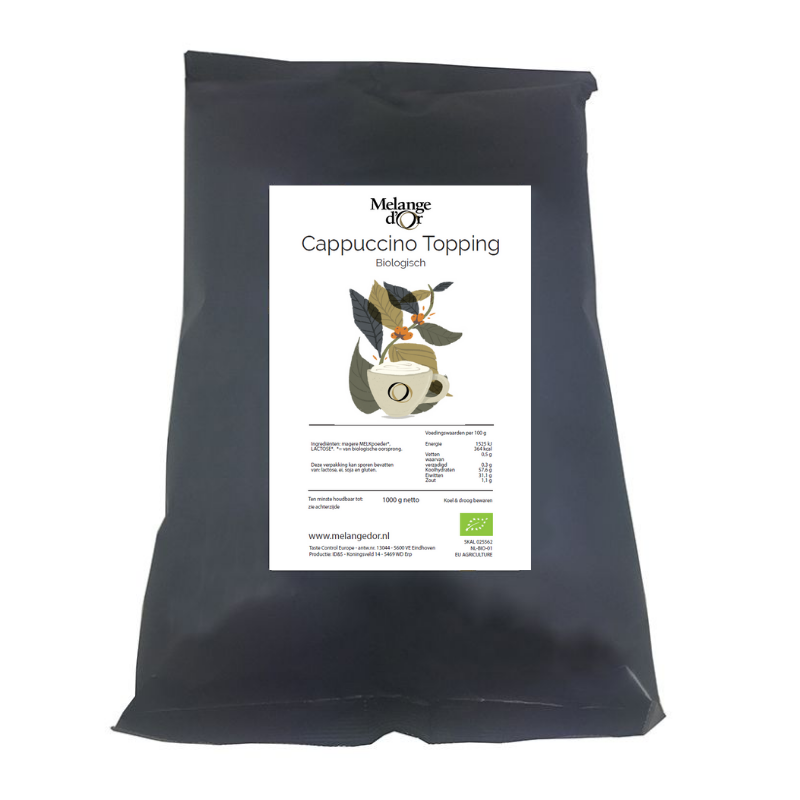 Melange d'Or Cappuccino Topping 1,0 kg – Biologisch