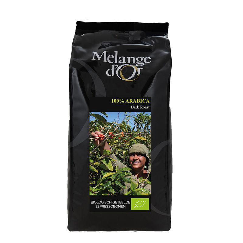 Melange d'Or  100% Arabica Espressobonen Dark Roast 1,0 kg – Biologisch