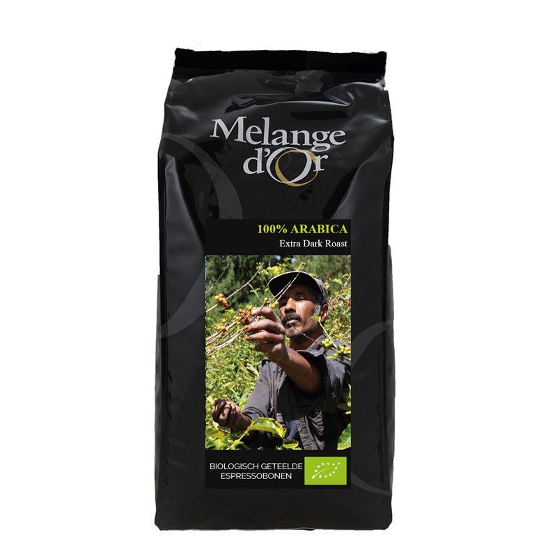 Melange d'Or 100% Arabica Espressobonen Extra Dark 1,0 kg – Biologisch