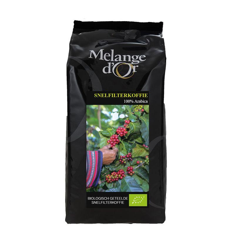 Melange d'Or Biologische 100% Arabica Snelfilterkoffie 1,0 kg