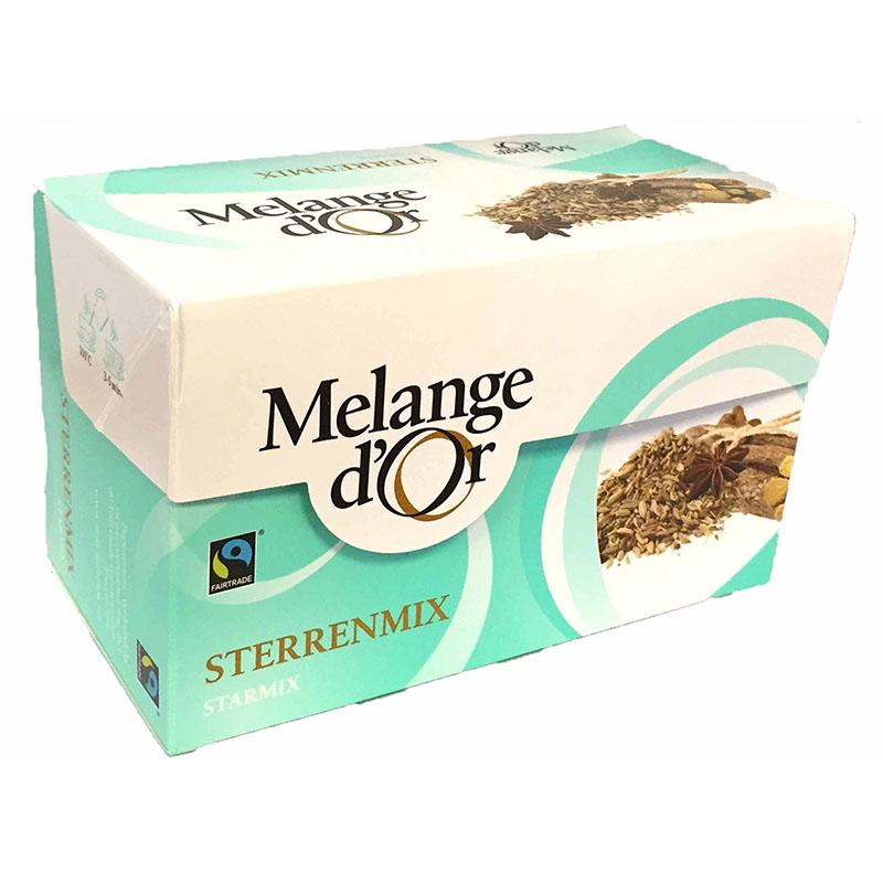 Melange d'Or Sterrenmix Thee Envelopjes 2 gram – Fair Trade