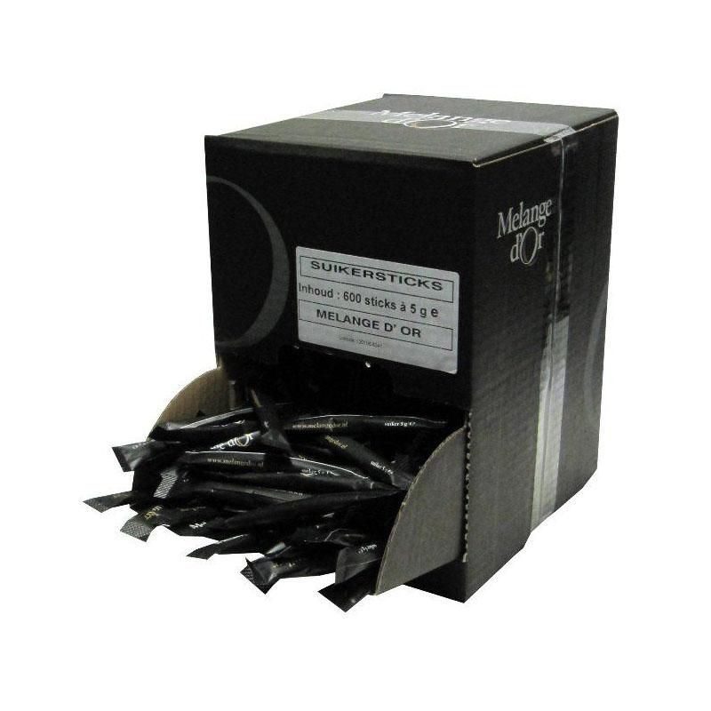 Melange d'Or Suikersticks 5,0 gram in Dispenserdoos