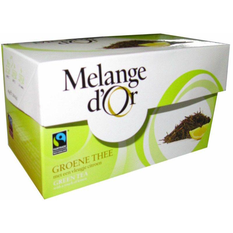 Melange d'Or Groene Thee met Citroen Envelopjes 2 gram – Fair Trade