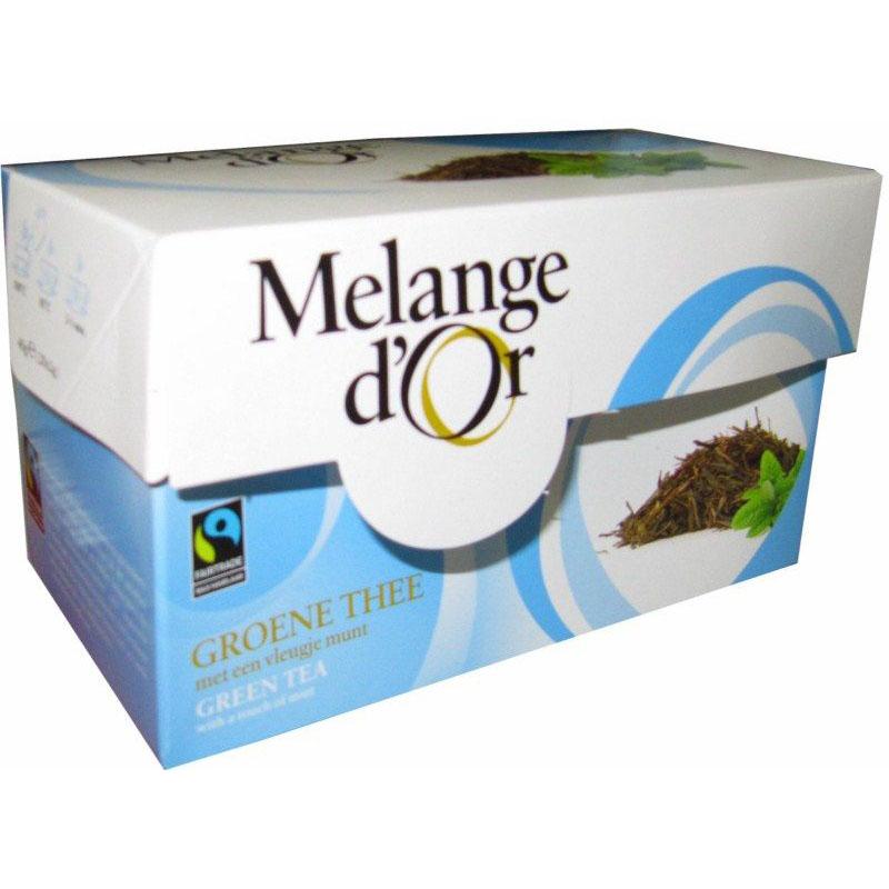 Melange d'Or Groene Thee met Munt Envelopjes 2 gram – Fair Trade