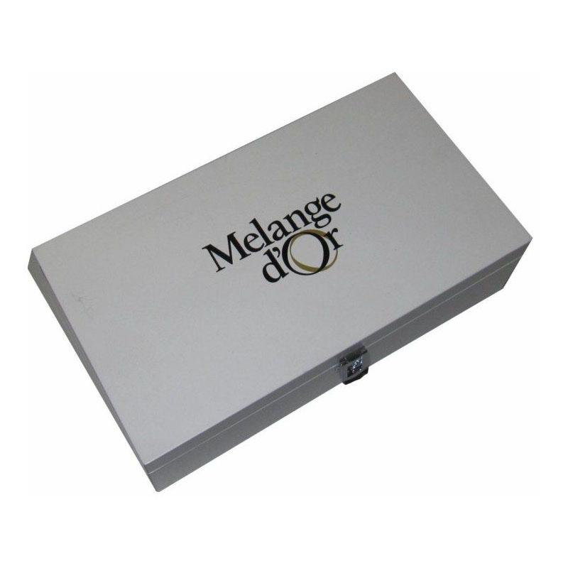 Melange d'Or Luxe Theekist Wit Gelakt met  8-vakken (leeg)