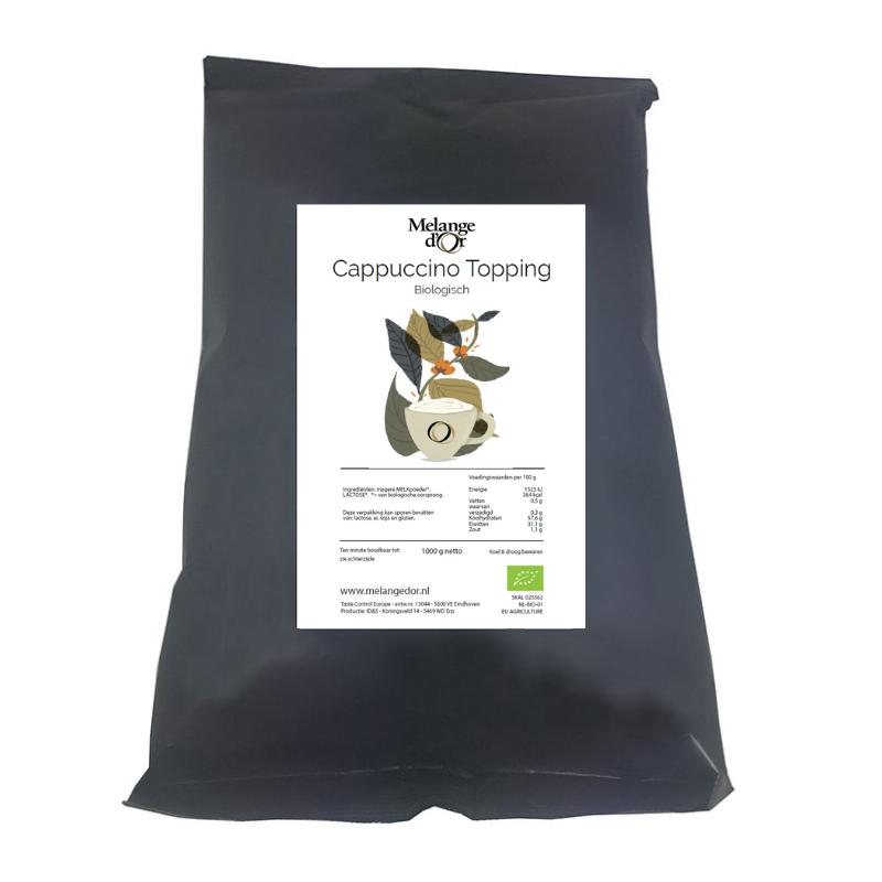 Melange d'Or Cappuccino Topping 1,0 kg – Biologisch