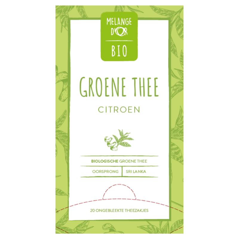 Melange d'Or Bio FT groene thee Citroen 20x 1,5gr.